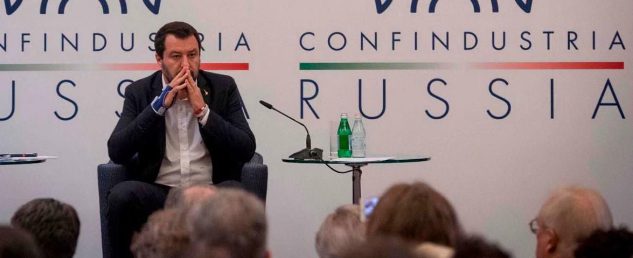 """Salvini ospite di Confindustria Russia: """"Le sanzioni sono follia. Qua mi sento a casa"""""""