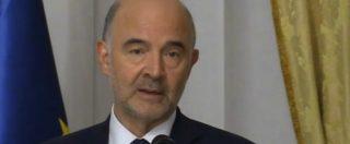 """Manovra, Moscovici: """"Deficit al 2,4% desta preoccupazione all'Europa, ma non siamo contro l'Italia"""""""