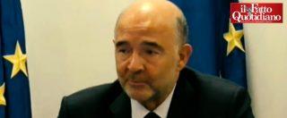 """Manovra, Moscovici: """"Un'Italia senza euro non avrebbe senso, i cittadini sono a favore della moneta unica"""""""