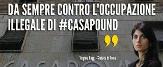 Raggi contro Casapound dopo rinvio del blitz della Finanza: 'Orgogliosamente antifascista'. La replica: 'Pulisca la città'