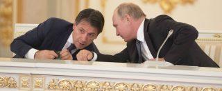 """Conte a Mosca da Putin e imprenditori: """"Le sanzioni non possono essere un fine"""""""