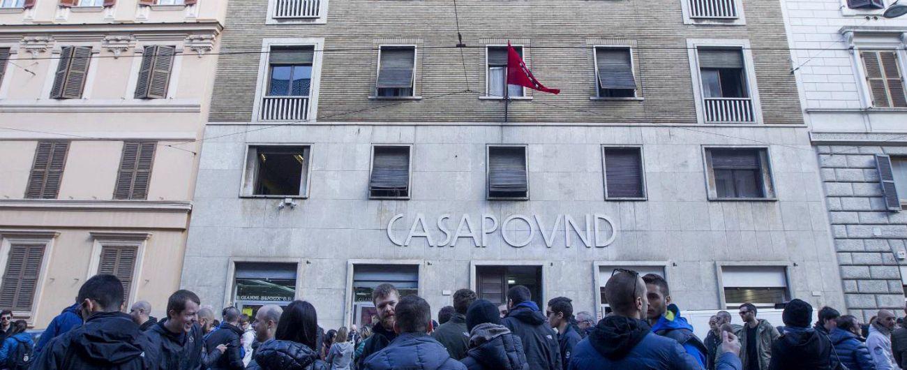 """Casapound, dopo 4 giorni ispezionata la sede occupata. Di Stefano: """"Massima tranquillità, nessun bagno di sangue"""""""