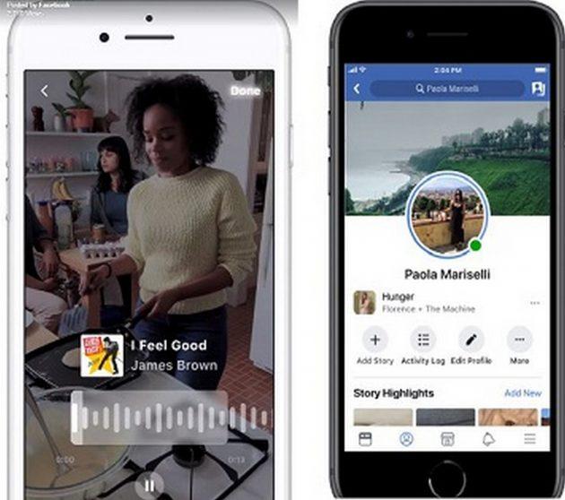 Facebook: la musica (e il playback) arriva sulle Storie