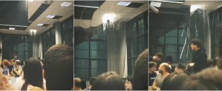 Maltempo Milano, crollano pannelli del controsoffitto al Politecnico durante lezione: nessun ferito