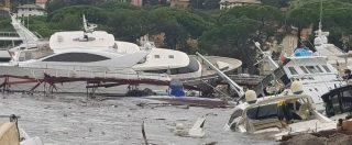 """Maltempo, 11 vittime per pioggia e vento: 61enne trovato morto in torrente nel Bellunese. """"Strage"""" di yacht a Rapallo"""