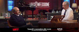"""La Confessione, Oscar Farinetti su Nove: """"Renzi? Un fuoriclasse. Non ha lasciato la politica dopo il referendum? Però si è dimesso"""""""