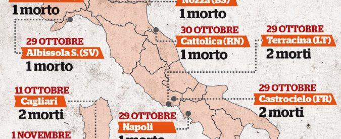L'Italia in ginocchio: un mese di maltempo ha ucciso 34 persone