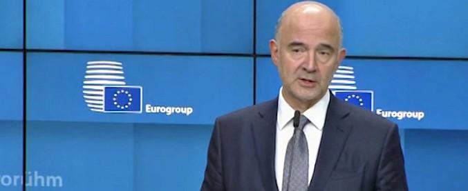 """Eurogruppo, Moscovici: """"Italia disposta ad ascoltarci. Bene l'intenzione di calare il deficit, ma va ridotto ancora"""""""