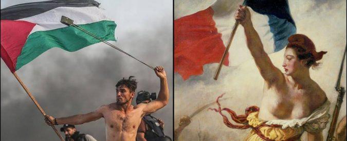 Palestina, l'uomo della foto come il dipinto di Delacroix. Ma stavolta l'arte distrae