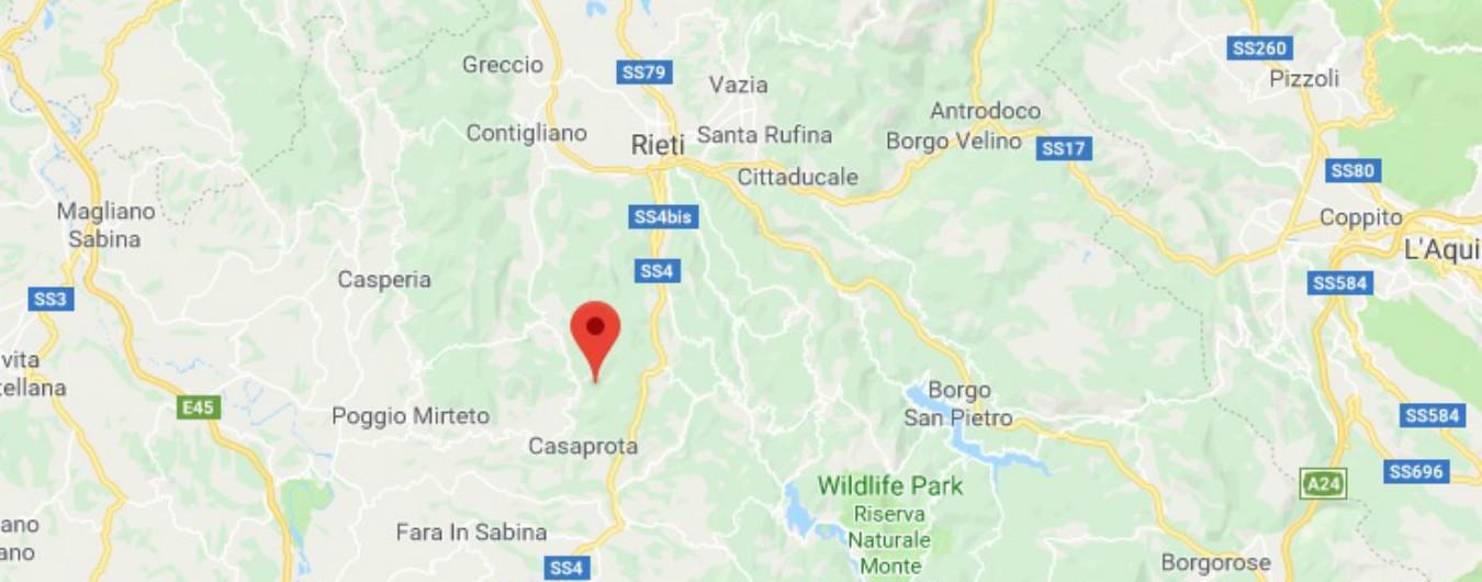 Terremoto, a Rieti scossa di magnitudo 3.4: epicentro vicino a Montenero Sabino