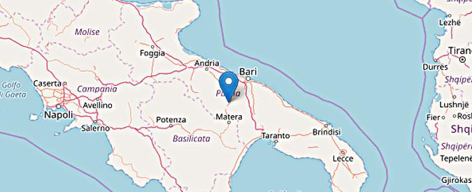 """Terremoto Bari, scossa di magnitudo 3,5 a 5 km da Altamura. """"Gente in strada, ma nessun danno"""""""
