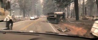 Incendi California, paesaggio apocalittico dopo lo spegnimento delle fiamme: il video dalle strade fantasma