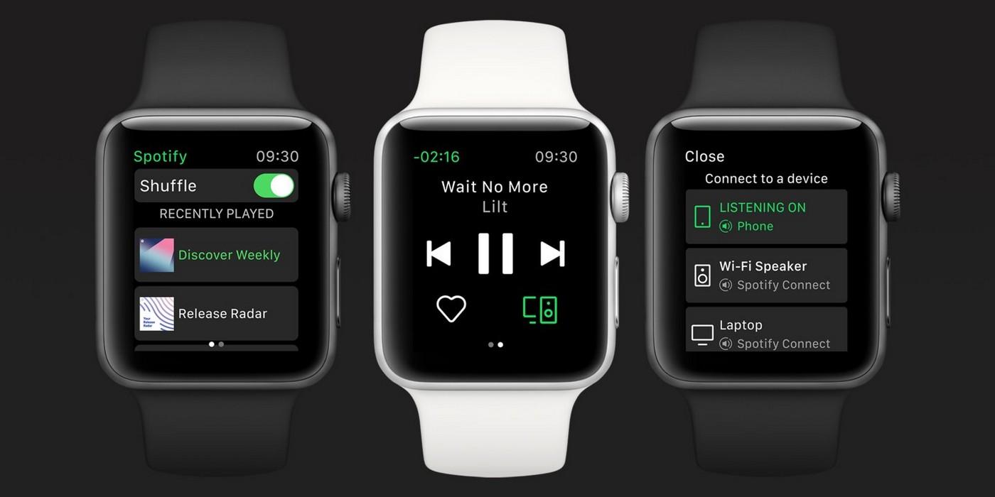 Spotify sbarca sull'Apple Watch, tutta la musica a portata d