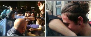Napoli, scontri tra polizia e centri sociali: 15enne ferito al volto. Le immagini della carica