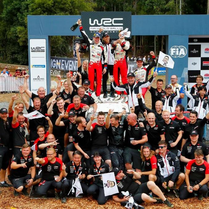 Toyota campione del mondo rally dopo 18 anni