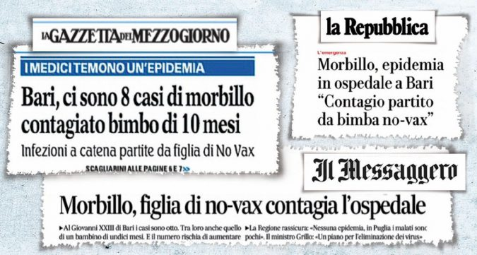 Morbillo a Bari: contagio a catena di fake news