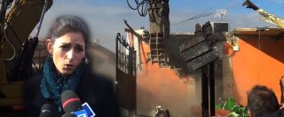 """Casamonica, iniziata la demolizione delle ville abusive. Raggi: """"Passiamo ai fatti, territorio a cittadini"""""""
