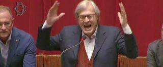 """Anticorruzione, Sgarbi furioso in Aula: """"Vergogna, la politica muore con questa legge del cazzo"""""""