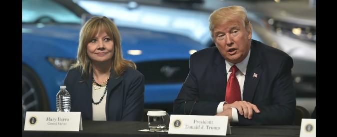 """GM, Trump: """"deluso da chiusura fabbriche e licenziamenti"""". E minaccia taglio sussidi e nuovi dazi"""
