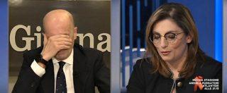 """Reddito di cittadinanza, il mistero delle tessere. Gruber a Laura Castelli: """"Le sta stampando il Poligrafico?"""". """"Forse…"""""""