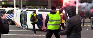 Gilet gialli, tensione a Bruxelles: manifestanti arrivano sotto Commissione Ue. 60 fermi e 4 arresti