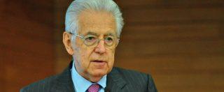 """Manovra, Monti: """"Bruxelles non è stata troppo severa. M5s-Lega vivevano in una bolla, ora è arrivato lo 'Tsipras moment"""
