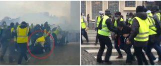 Gilet gialli, la violenza contro i manifestanti e l'assalto ai poliziotti: il video della guerriglia a Parigi