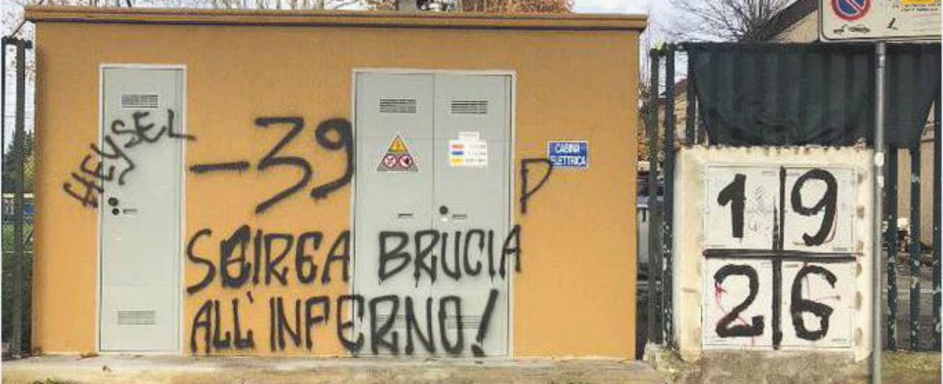 """Juve-Fiorentina, Allegri contro le scritte offensive su Heysel e Scirea: """"Chi le ha fatte dovrebbe essere arrestato"""""""