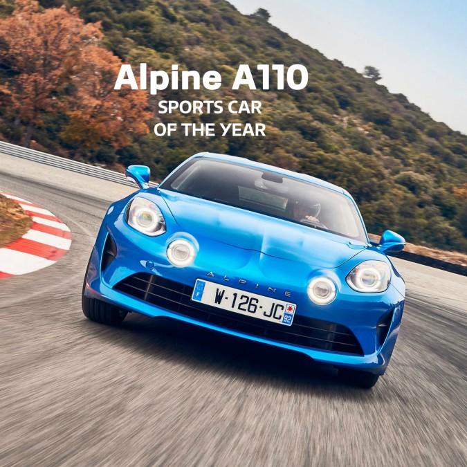 Alpine A110 è la sportiva dell'anno per la rivista BBC TopGear
