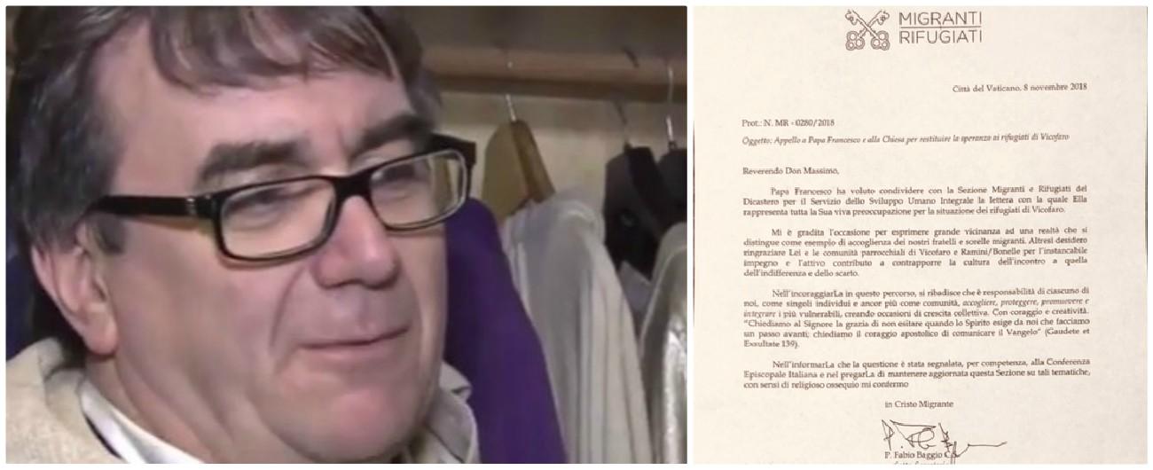 """Migranti, il Papa scrive a don Biancalani: """"Grande vicinanza a Vicofaro, esempio di accoglienza. Preoccupato per situazione"""""""