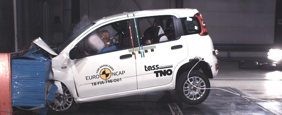 Fiat Panda, zero stelle ai crash test Euro NCAP. Solo una per Jeep Wrangler