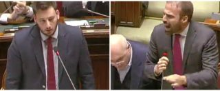 """Manovra, Marattin (Pd) scatenato contro M5s-Lega: """"Smettetela di raccontare palle"""". Scoppia la bagarre in Aula"""