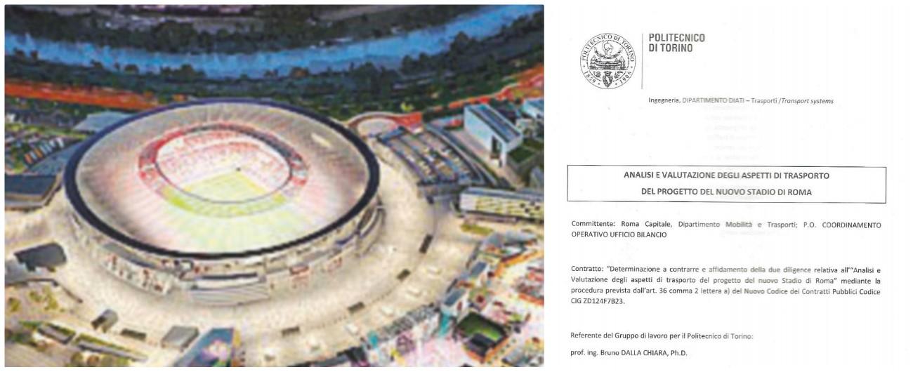 """Stadio della Roma, Politecnico di Torino: """"Quadro catastrofico per la viabilità, scenario di blocco totale della rete"""""""