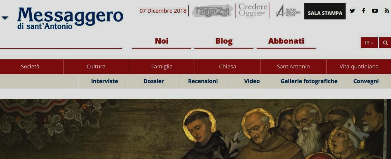 """Messaggero di Sant'Antonio, così chiude la rivista cattolica più diffusa al mondo: """"Decisione obbligata, perdite consistenti"""""""