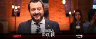 """Accordi&Disaccordi, Salvini su Nove: """"Sono antifascista e anticomunista, CasaPound non è il mio modello"""""""