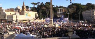 """Lega, le immagini di piazza del Popolo dall'alto. Salvini: """"Minuto di silenzio per le vittime di Corinaldo"""""""