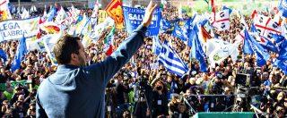 """Lega, Salvini riempe piazza del Popolo. Cita Martin Luther King e dice: """"Datemi il mandato per trattare con l'Ue"""""""