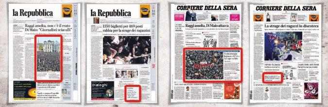Due piazze e due misure: così i giornali hanno raccontato le marce pro e contro