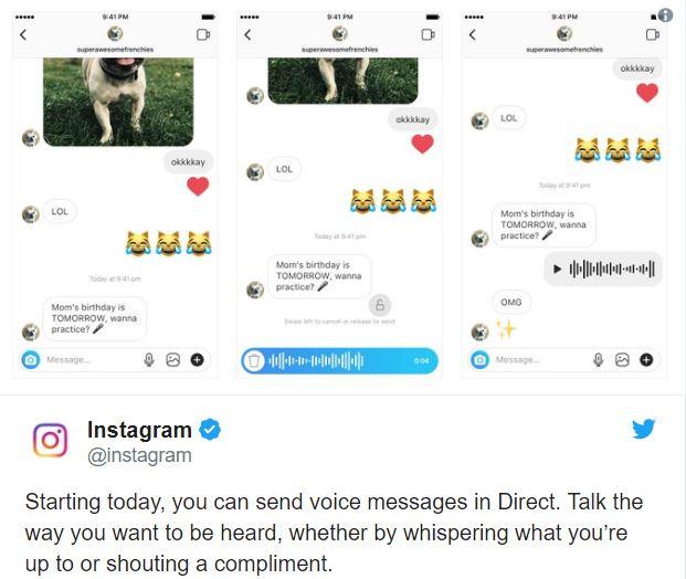 Anche Instagram supporta i messaggi vocali, si salvi chi può
