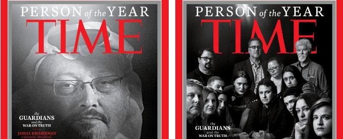 """Time, il titolo """"persona dell'anno 2018"""" a Jamal Khashoggi e ai giornalisti """"guardiani"""" contro la manipolazione"""