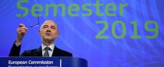 """Moscovici: """"La Francia può sforare il 3%, ma temporaneamente. Sbagliato fare il paragone con Italia"""""""