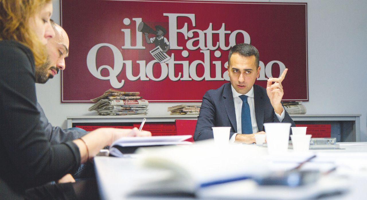 """Sul Fatto del 14 dicembre – Di Maio: """"Il governo non cade. Salvini, se ci molla per B. si suicida"""""""