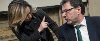 """Reddito di cittadinanza, Giorgetti: """"M5s ha vinto così al Sud. È Italia che non ci piace"""". La replica: """"Offende chi ci vota"""""""