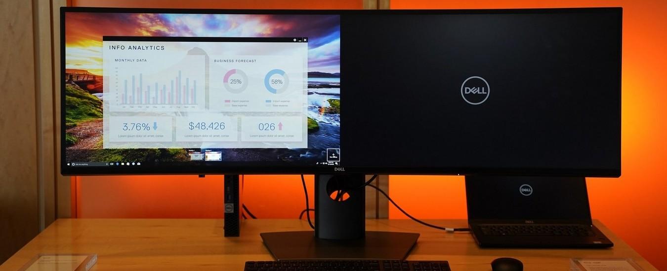Monitor Dell per professionisti, arriva il 49 pollici curvo da 5120 x 1440 pixel