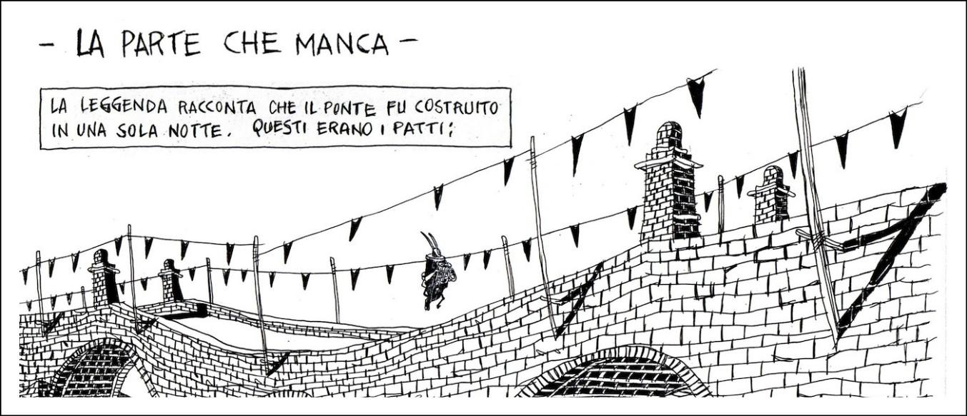 """Ponte Morandi 4 mesi dopo. """"La parte che manca"""", le tavole di Giacopetti: """"Il progresso sopra, le persone sotto"""""""