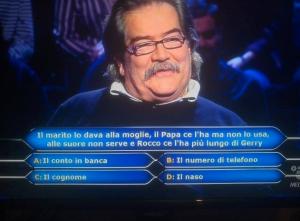 Chi Vuol Essere Milionario, la domanda osé di Gerry Scotti
