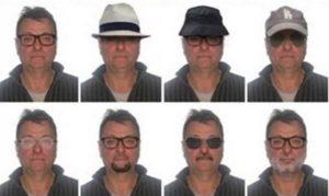"""Cesare Battisti, polizia brasiliana diffonde 20 identikit: """"Attenzione, potrebbe essere travestito così per ..."""