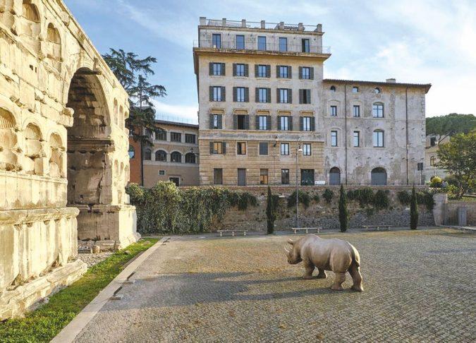 Il Rinoceronte di Alda Fendi per far cassa con l'arte di tutti