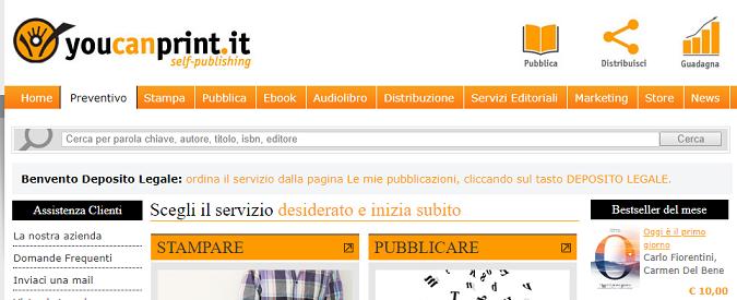 Ebook, per l'autopubblicazione Youcanprint incalza Amazon