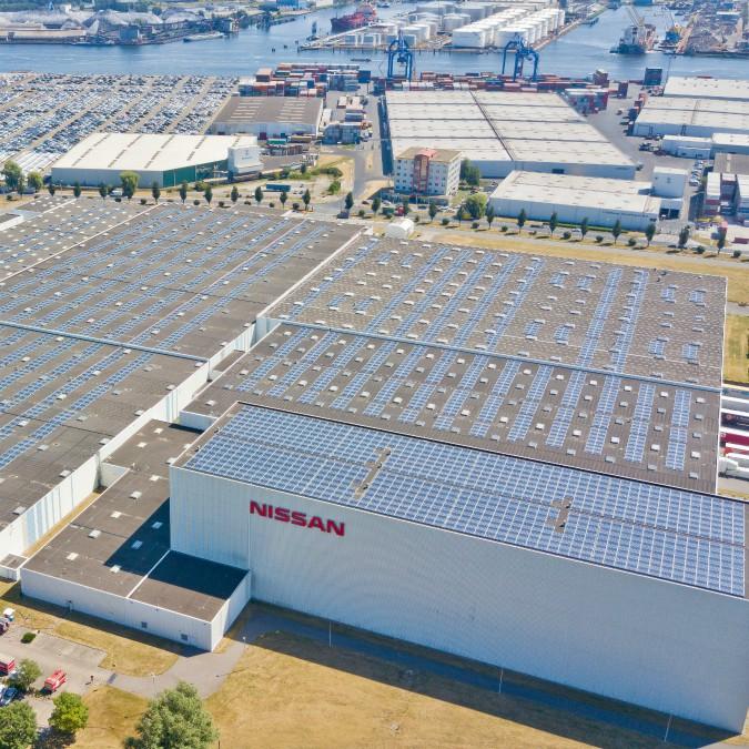Nissan, ad Amsterdam costruisce il tetto solare più grande dei Paesi Bassi